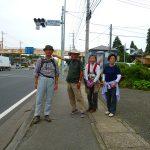 稲田十字路 ここで6号国道と別れた