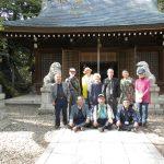 熊野神社前で記念撮影