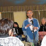 Jネットオカリナハート代表小林さんの挨拶