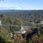 展望台から竜神大吊橋を望む