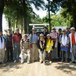 ガイドさんと共に記念写真。観光ボランティアガイド那珂の皆さん有難うございました。
