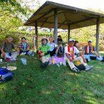 台原団地内公園で昼食 枝豆とアイスクリームが旨かった!!