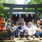 花園神社で記念撮影