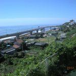 新日立駅舎から太平洋を展望