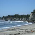 田尻海岸から日立方面を展望