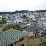 久慈小学校からの久慈浜の街並