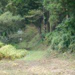 高萩工業団地へも通じる「万葉の道」入口