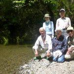 飛び入り企画ウオーク会に参加した5人(中崎、相澤、加藤、冨田、白土 各氏)